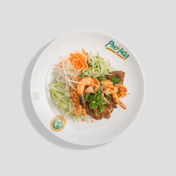 Grilled Prawn & Porkchop