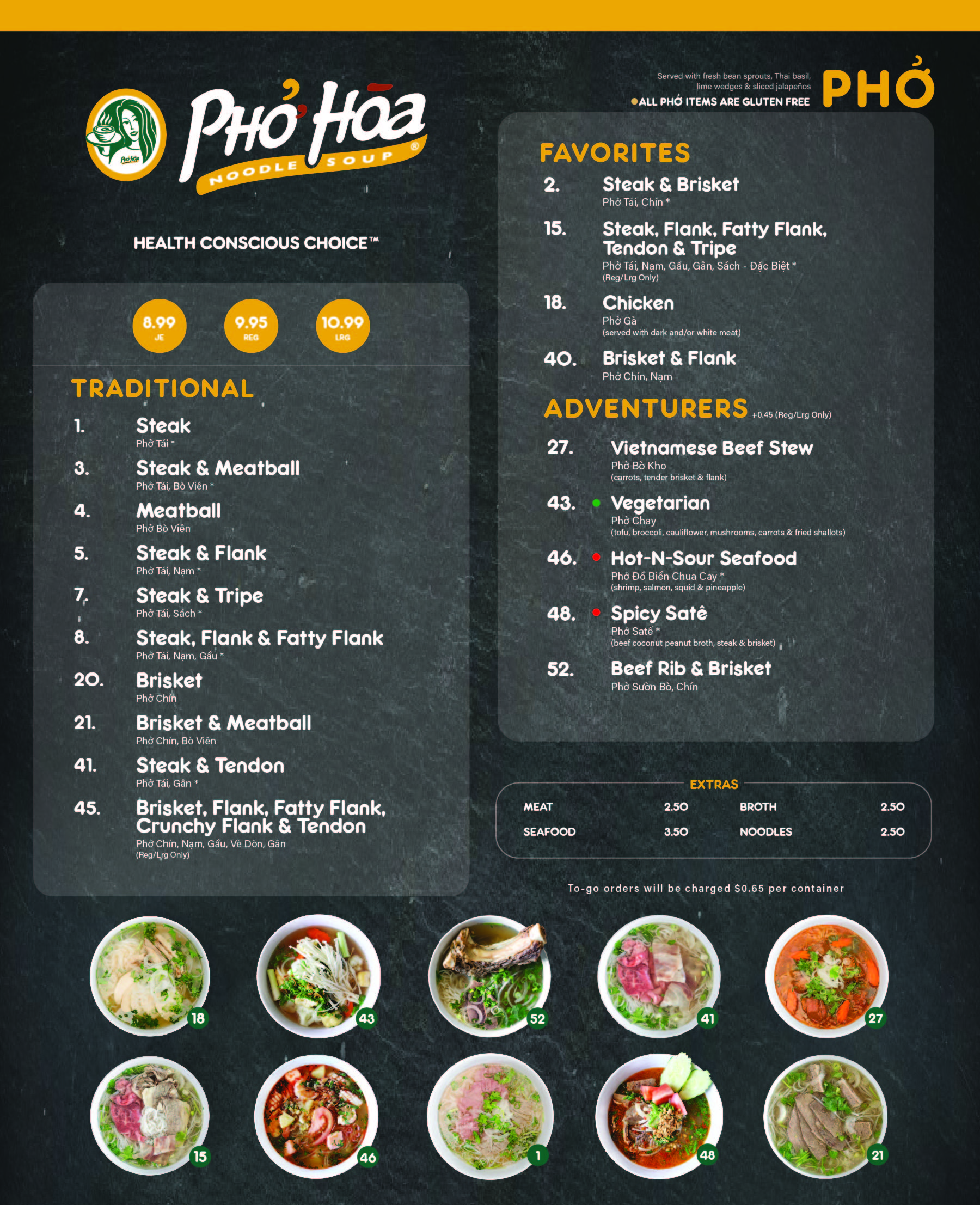 Menu for Pinole CA location
